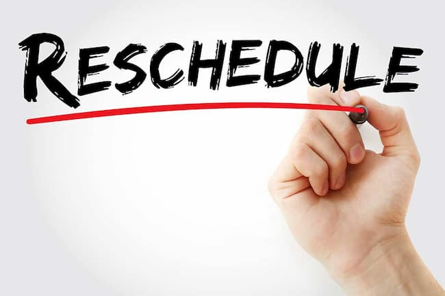 Reschedule Quickpayportal appointment